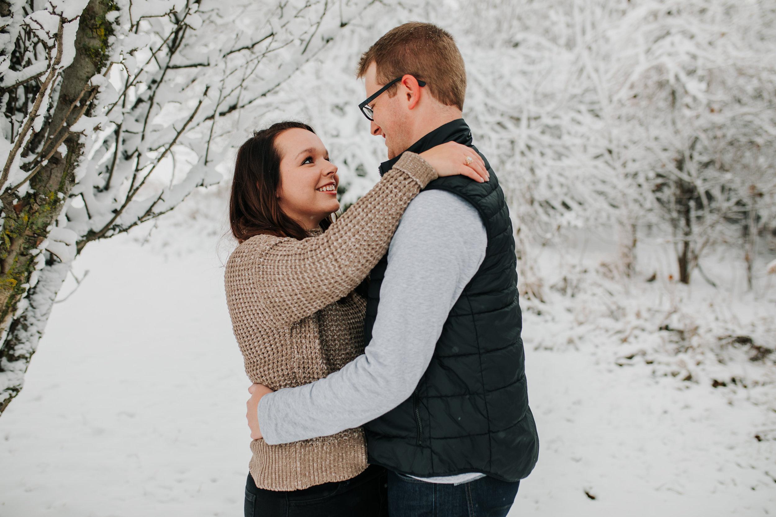 Vanessa & Dan - Engaged - Nathaniel Jensen Photography - Omaha Nebraska Wedding Photographer - Standing Bear Lake - Snowy Engagement Session-24.jpg