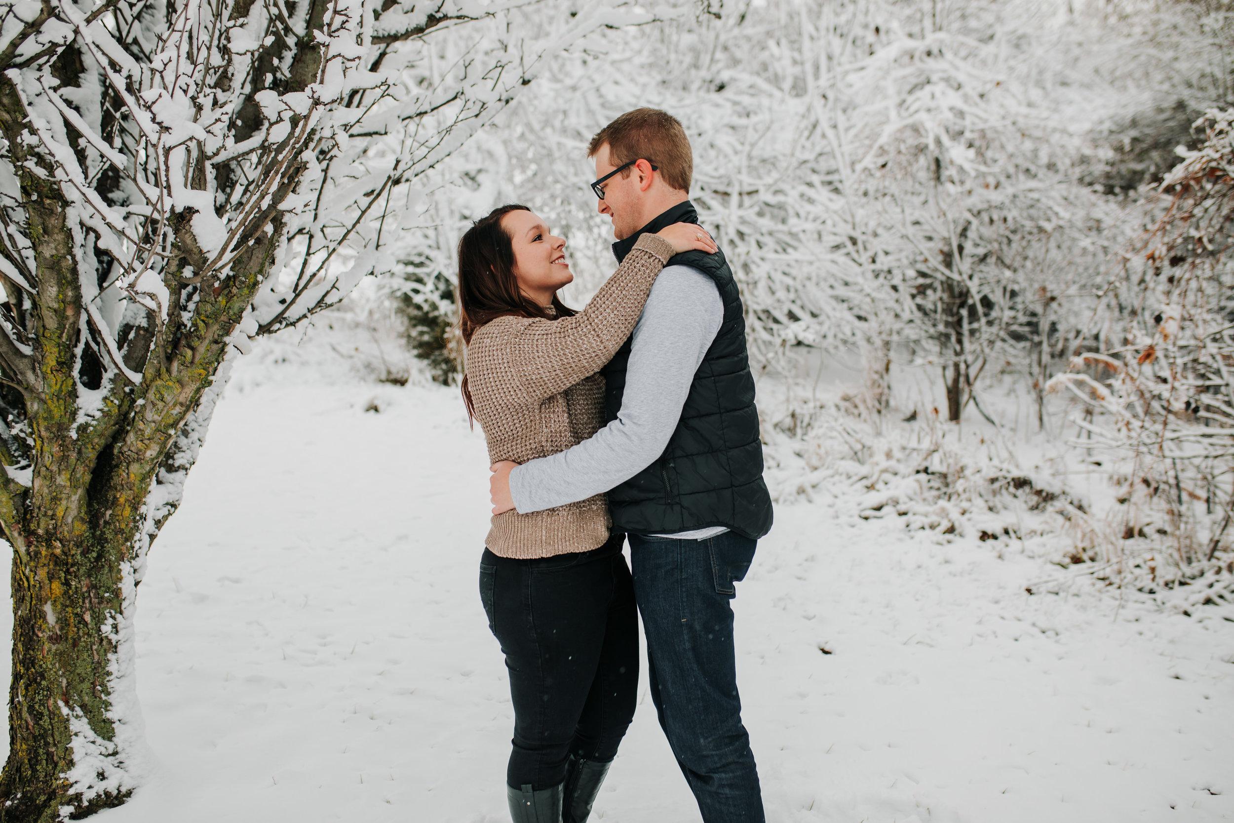 Vanessa & Dan - Engaged - Nathaniel Jensen Photography - Omaha Nebraska Wedding Photographer - Standing Bear Lake - Snowy Engagement Session-25.jpg