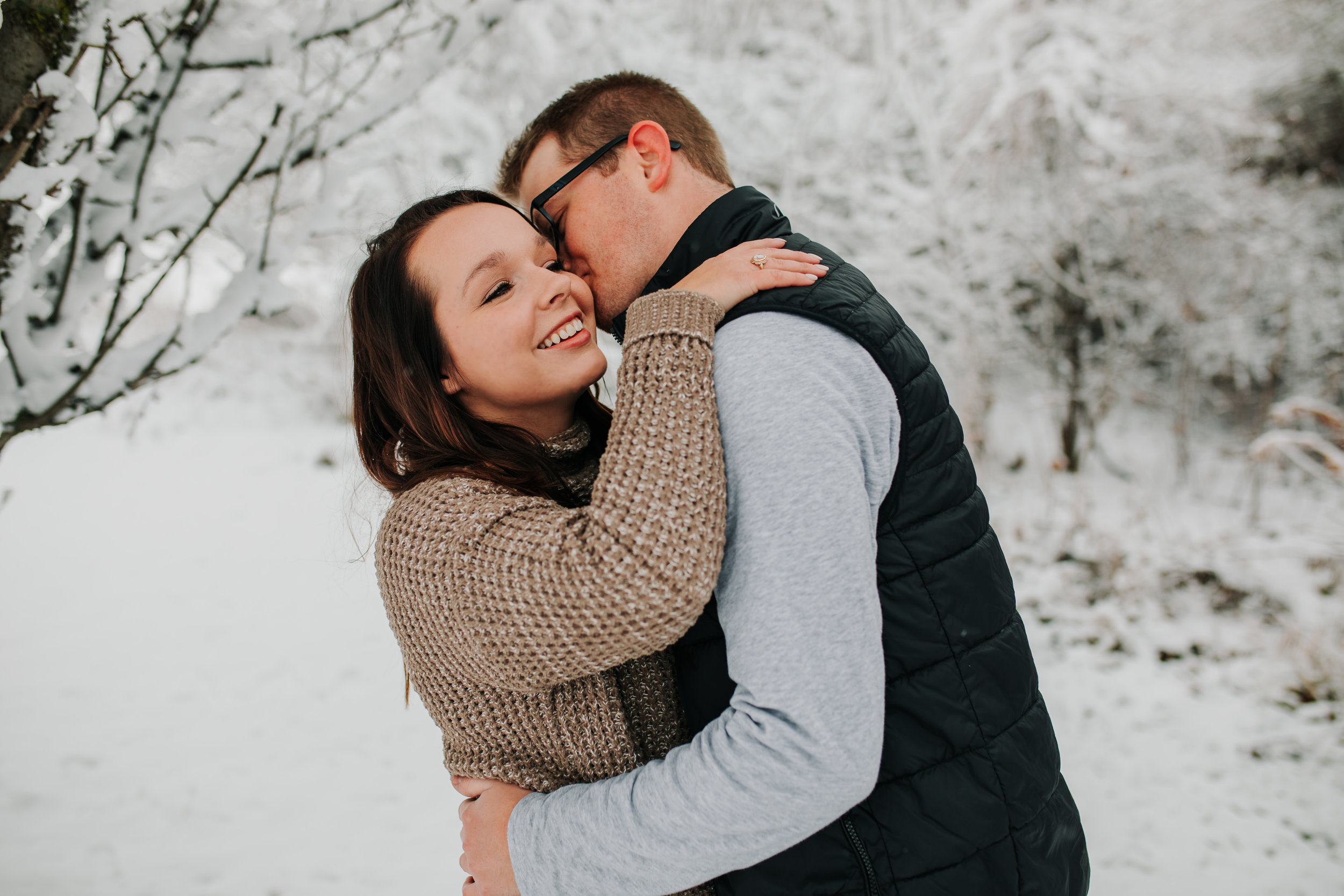 Vanessa & Dan - Engaged - Nathaniel Jensen Photography - Omaha Nebraska Wedding Photographer - Standing Bear Lake - Snowy Engagement Session-26.jpg