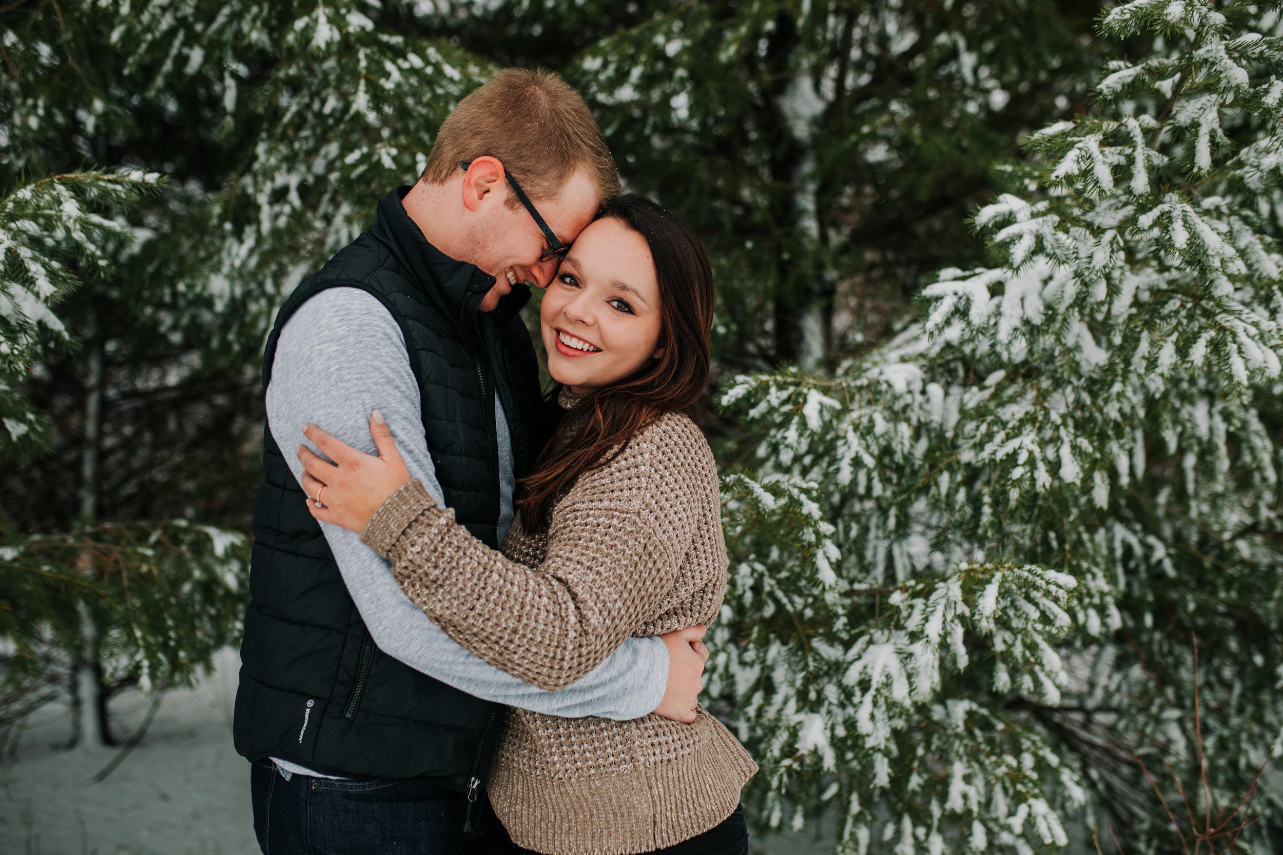 Vanessa & Dan - Engaged - Nathaniel Jensen Photography - Omaha Nebraska Wedding Photographer - Standing Bear Lake - Snowy Engagement Session-40.jpg
