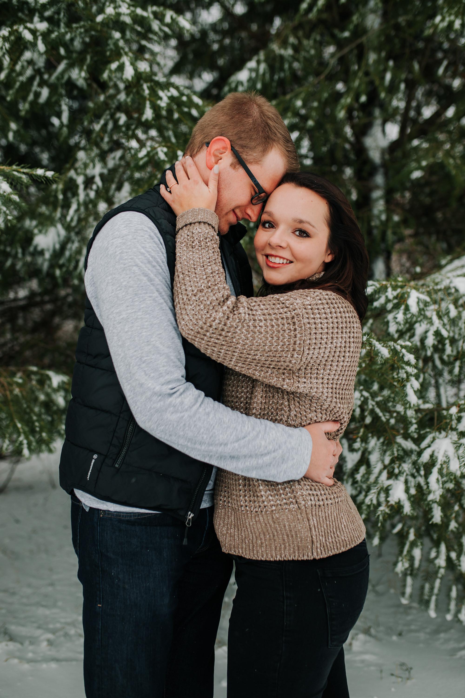 Vanessa & Dan - Engaged - Nathaniel Jensen Photography - Omaha Nebraska Wedding Photographer - Standing Bear Lake - Snowy Engagement Session-42.jpg