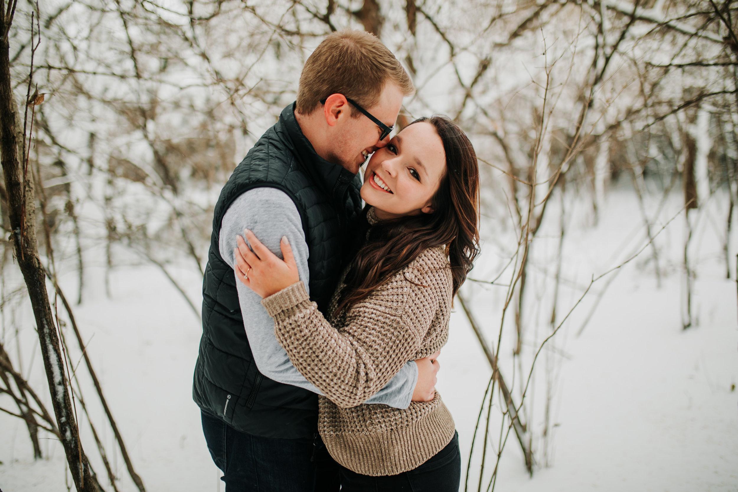 Vanessa & Dan - Engaged - Nathaniel Jensen Photography - Omaha Nebraska Wedding Photographer - Standing Bear Lake - Snowy Engagement Session-47.jpg