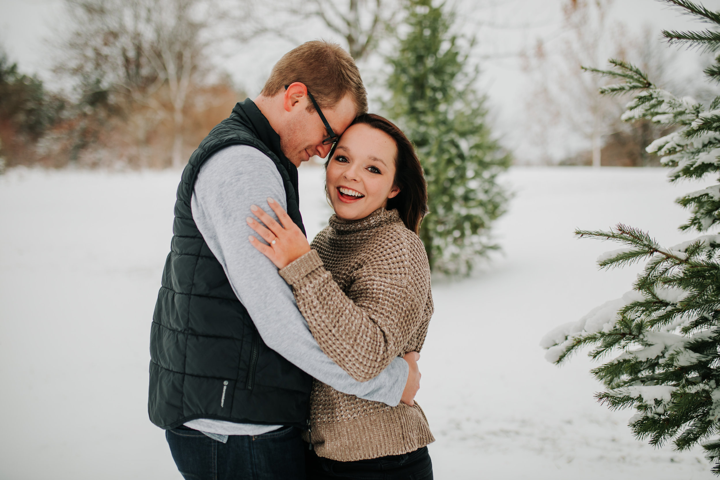Vanessa & Dan - Engaged - Nathaniel Jensen Photography - Omaha Nebraska Wedding Photographer - Standing Bear Lake - Snowy Engagement Session-50.jpg