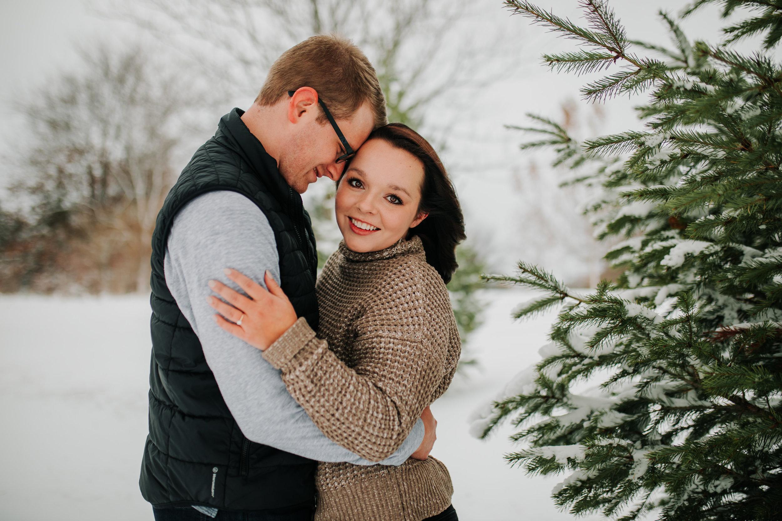 Vanessa & Dan - Engaged - Nathaniel Jensen Photography - Omaha Nebraska Wedding Photographer - Standing Bear Lake - Snowy Engagement Session-51.jpg