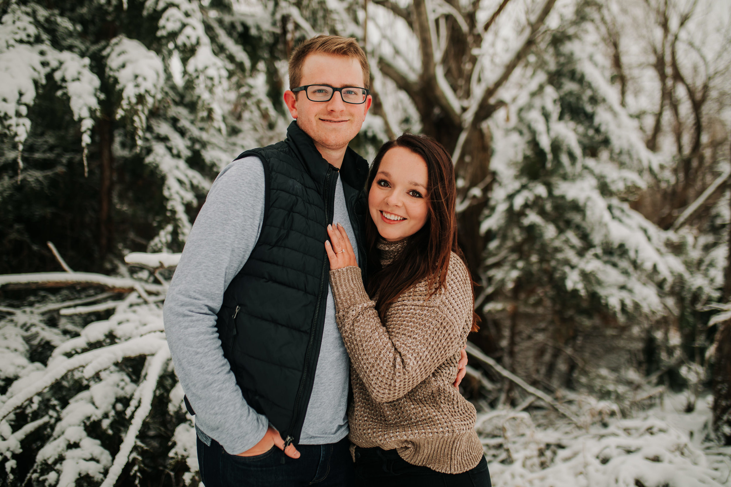 Vanessa & Dan - Engaged - Nathaniel Jensen Photography - Omaha Nebraska Wedding Photographer - Standing Bear Lake - Snowy Engagement Session-56.jpg