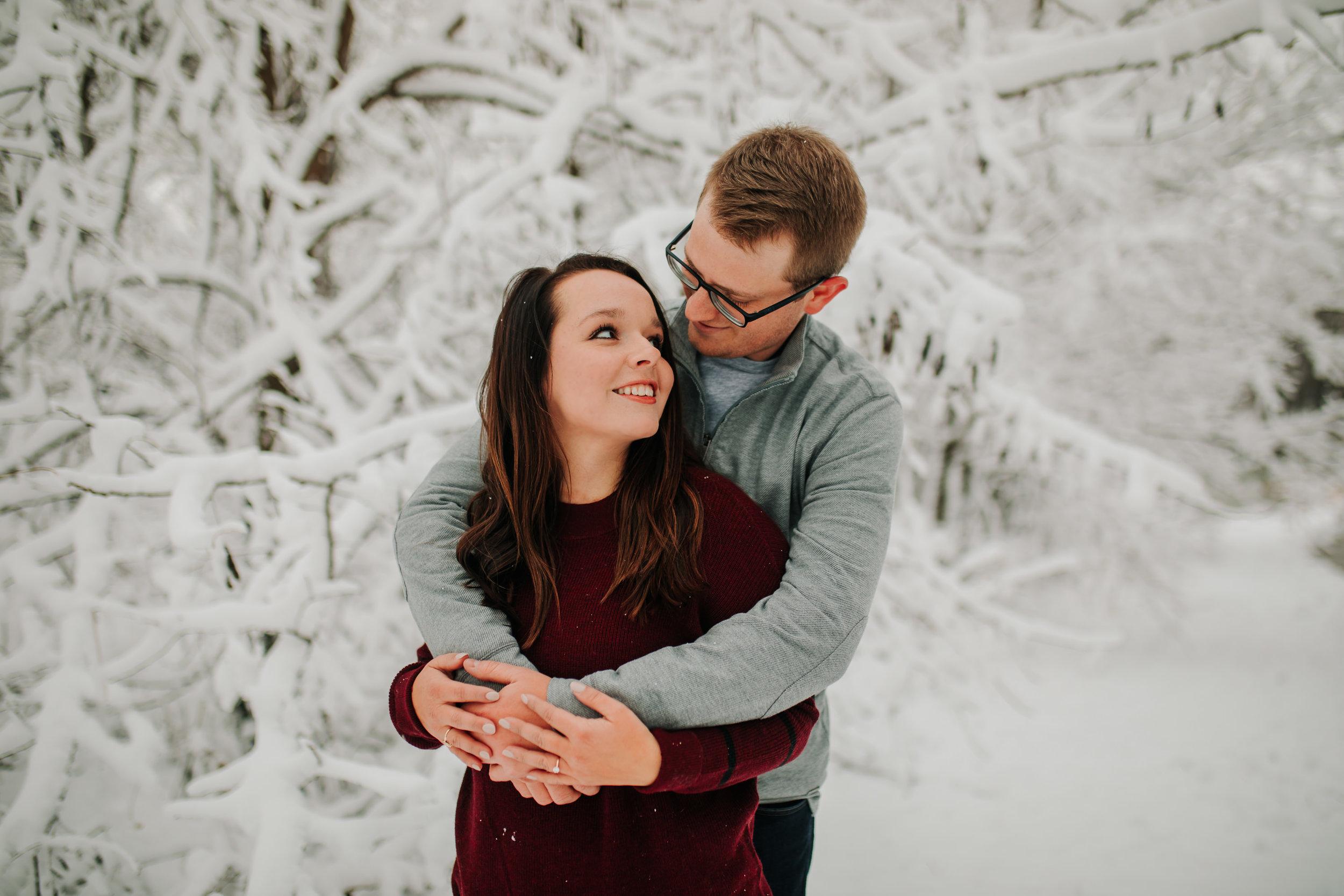 Vanessa & Dan - Engaged - Nathaniel Jensen Photography - Omaha Nebraska Wedding Photographer - Standing Bear Lake - Snowy Engagement Session-68.jpg