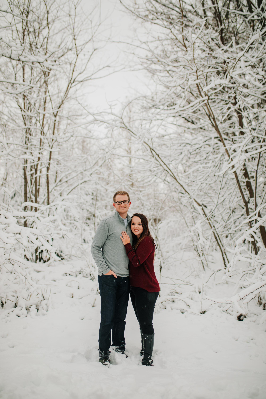 Vanessa & Dan - Engaged - Nathaniel Jensen Photography - Omaha Nebraska Wedding Photographer - Standing Bear Lake - Snowy Engagement Session-70.jpg