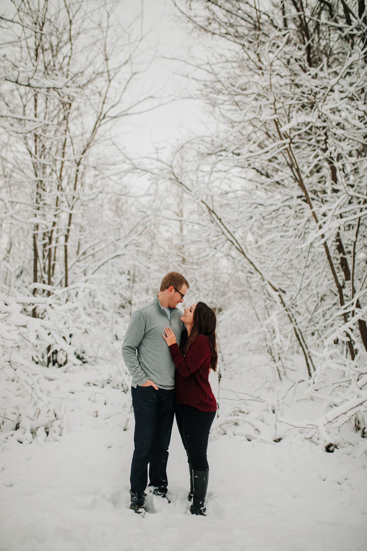 Vanessa & Dan - Engaged - Nathaniel Jensen Photography - Omaha Nebraska Wedding Photographer - Standing Bear Lake - Snowy Engagement Session-71.jpg