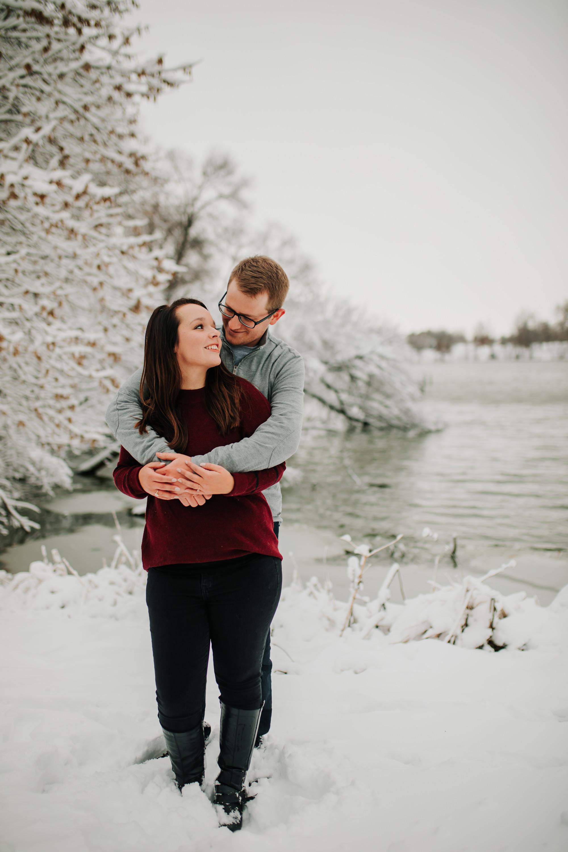 Vanessa & Dan - Engaged - Nathaniel Jensen Photography - Omaha Nebraska Wedding Photographer - Standing Bear Lake - Snowy Engagement Session-82.jpg