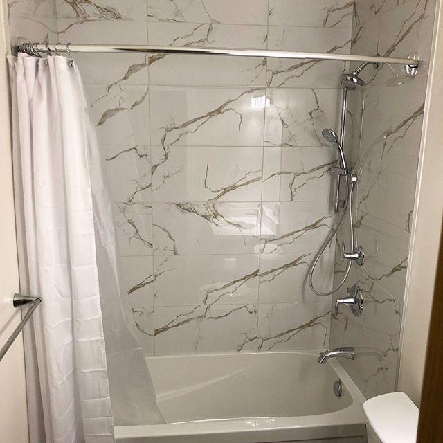 Tile bathtub install for @grindstonerenos #prairieconcepts #winnipegtile #winnipegflooring #winnipegrenovations