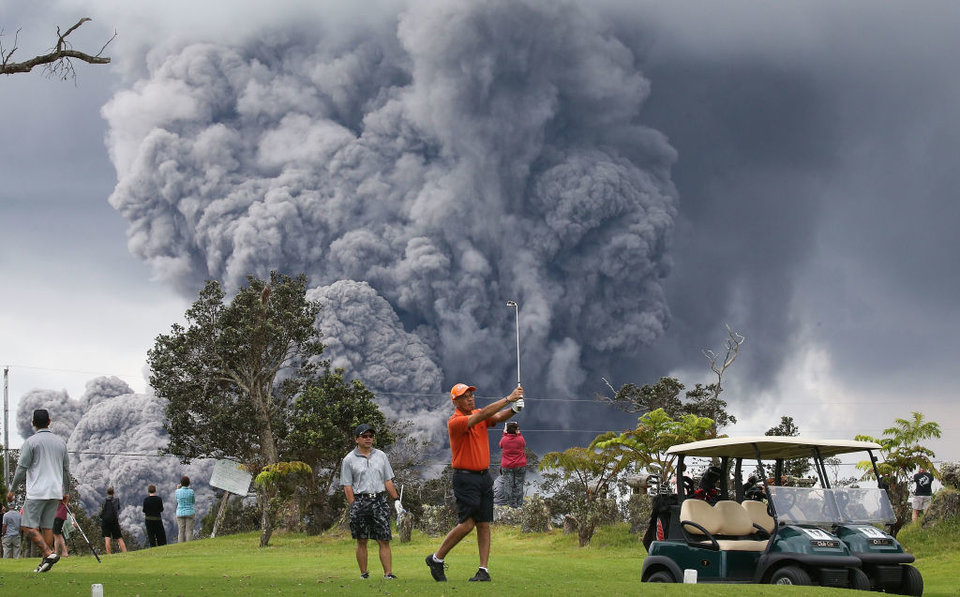 Pay no attention to that 10,000 foot ash cloud. We gotta finish our round!