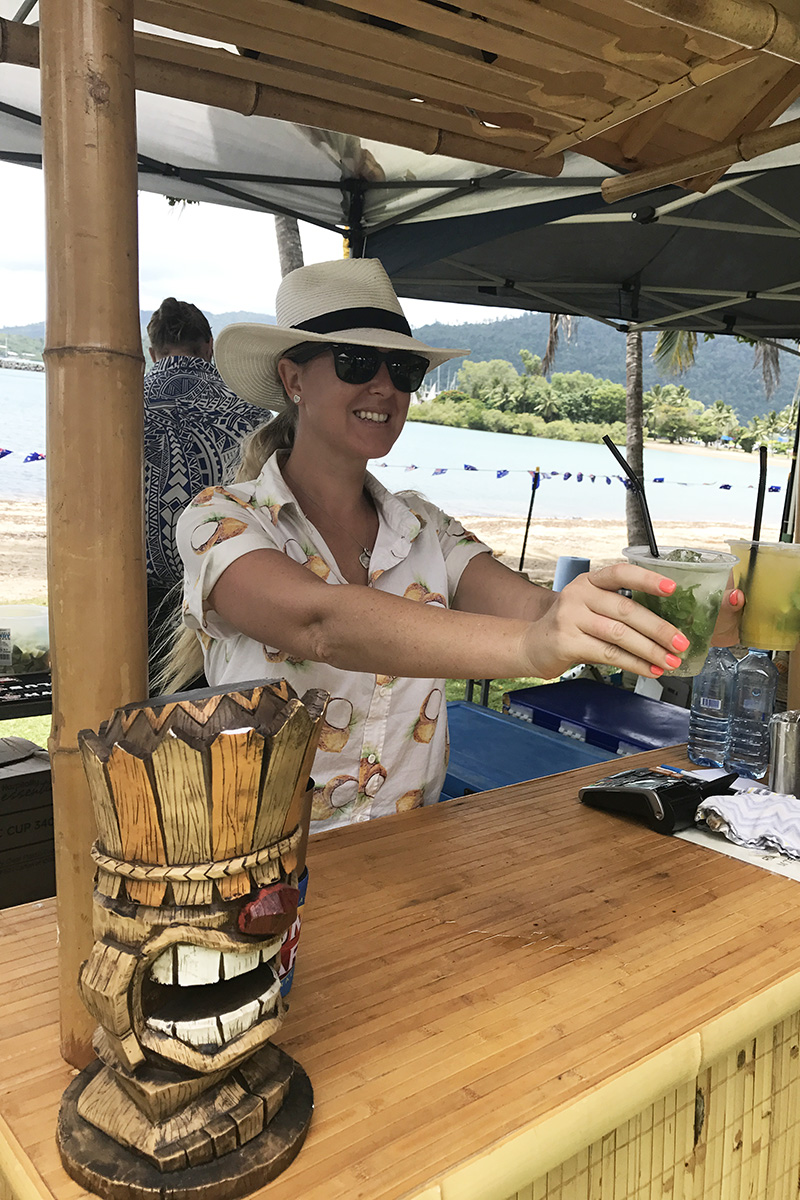 Mojito's at Great Australian Bites on the Airlie Beach foreshore, Australia Day 2017