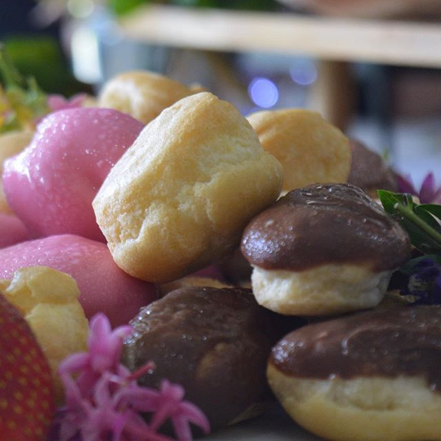 A selection of petite profiteroles. So sweet and so Dvine. Any style of food, any even, any location #grazingtable #lovefood #event #dessertbuffet #catering #functions #wedfest