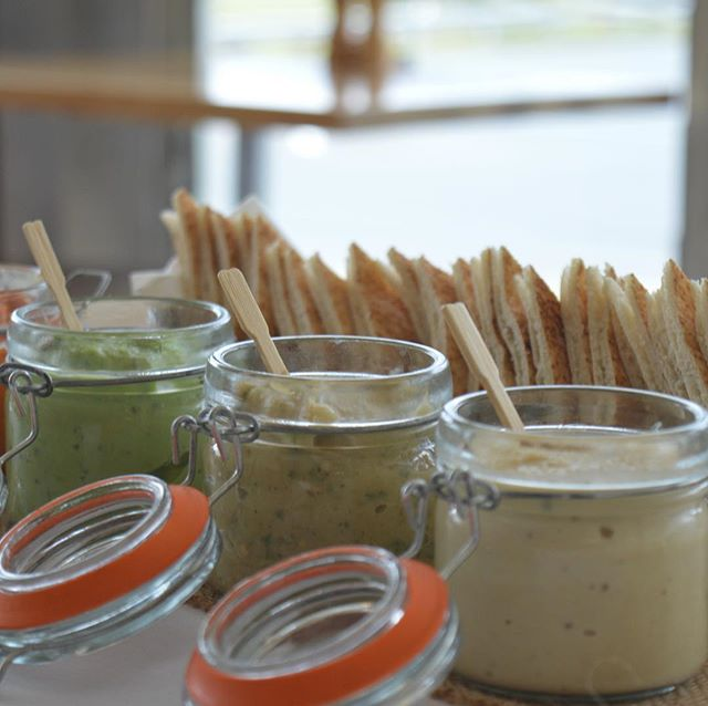 Home made dips and pita. What's in your grazing table? #catering #function #events #cheflife #party #dips #grazingtable #yum