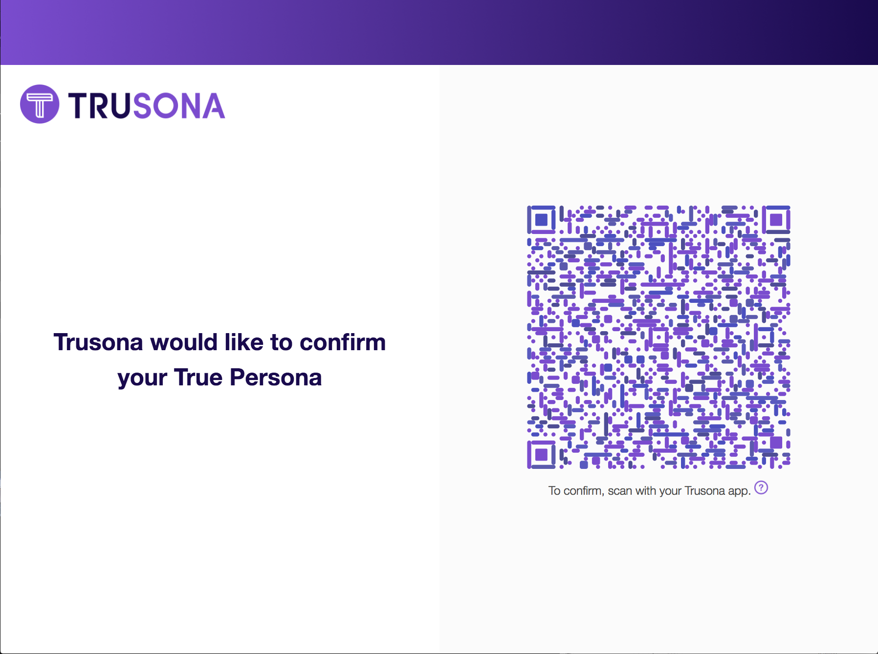 First time users will scan the TruCode to bind their device to thier Microsoft account