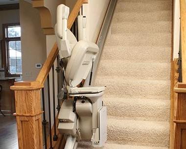 Bruno Elite Stairlift folded up