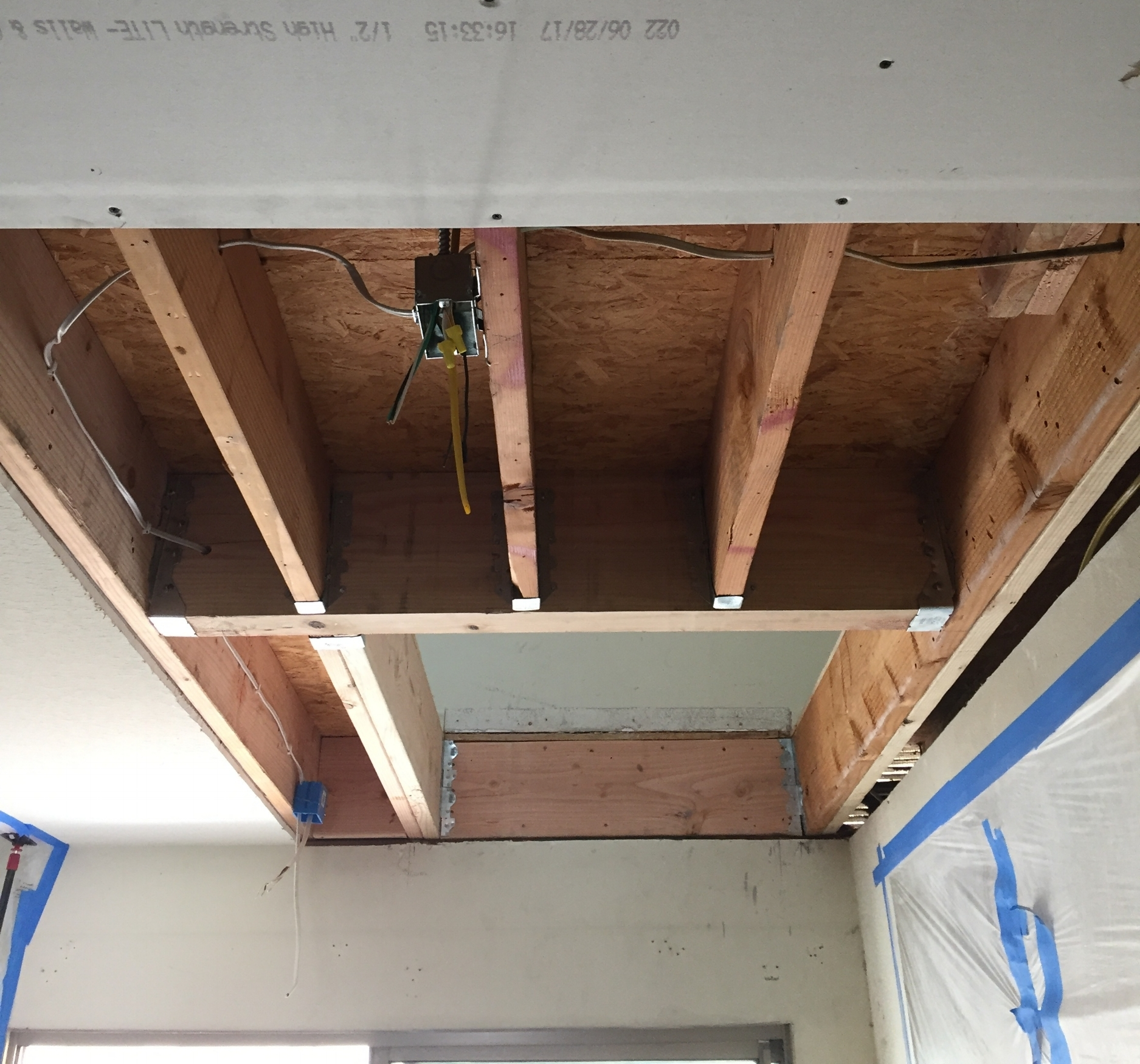 Ceiling reinforcement for Wessex Lift