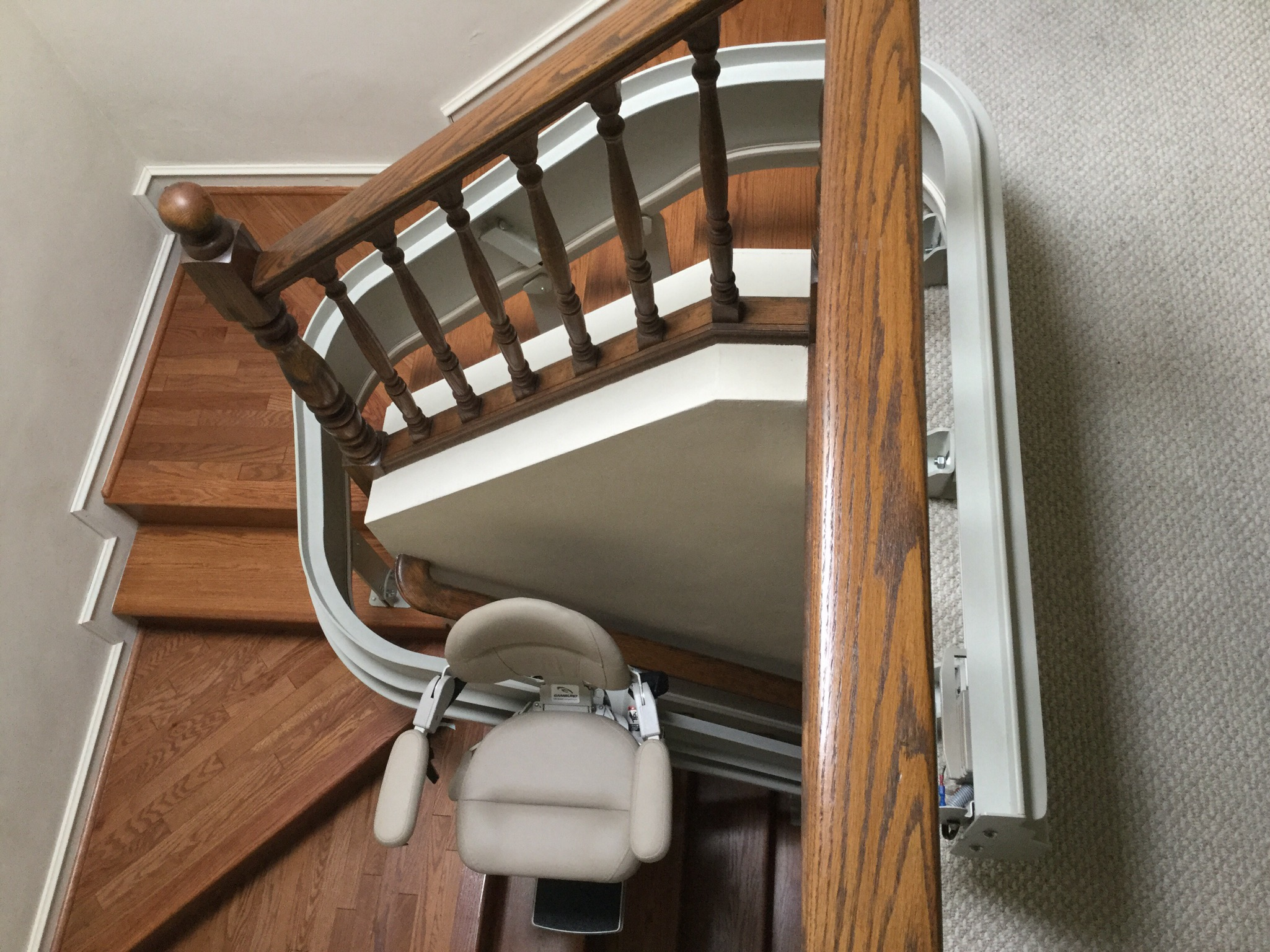 Indoor Bruno curved stairlift rail