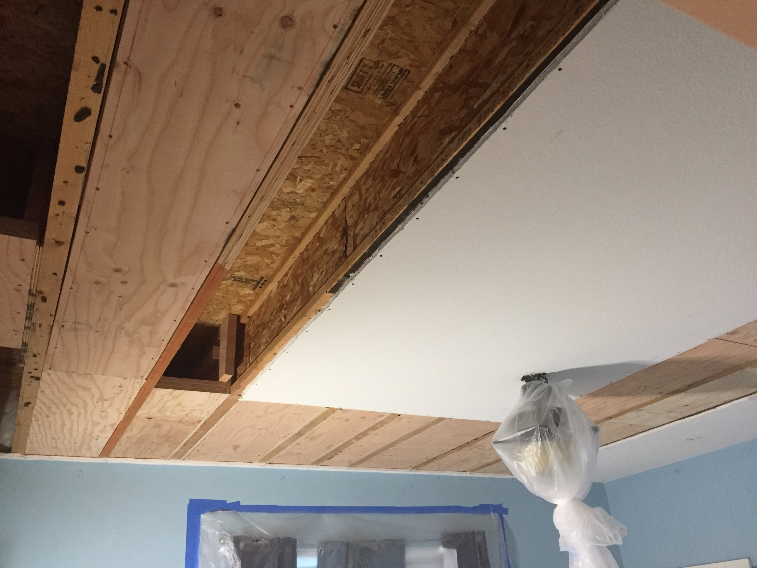 Overhead ceiling lift reinforcing