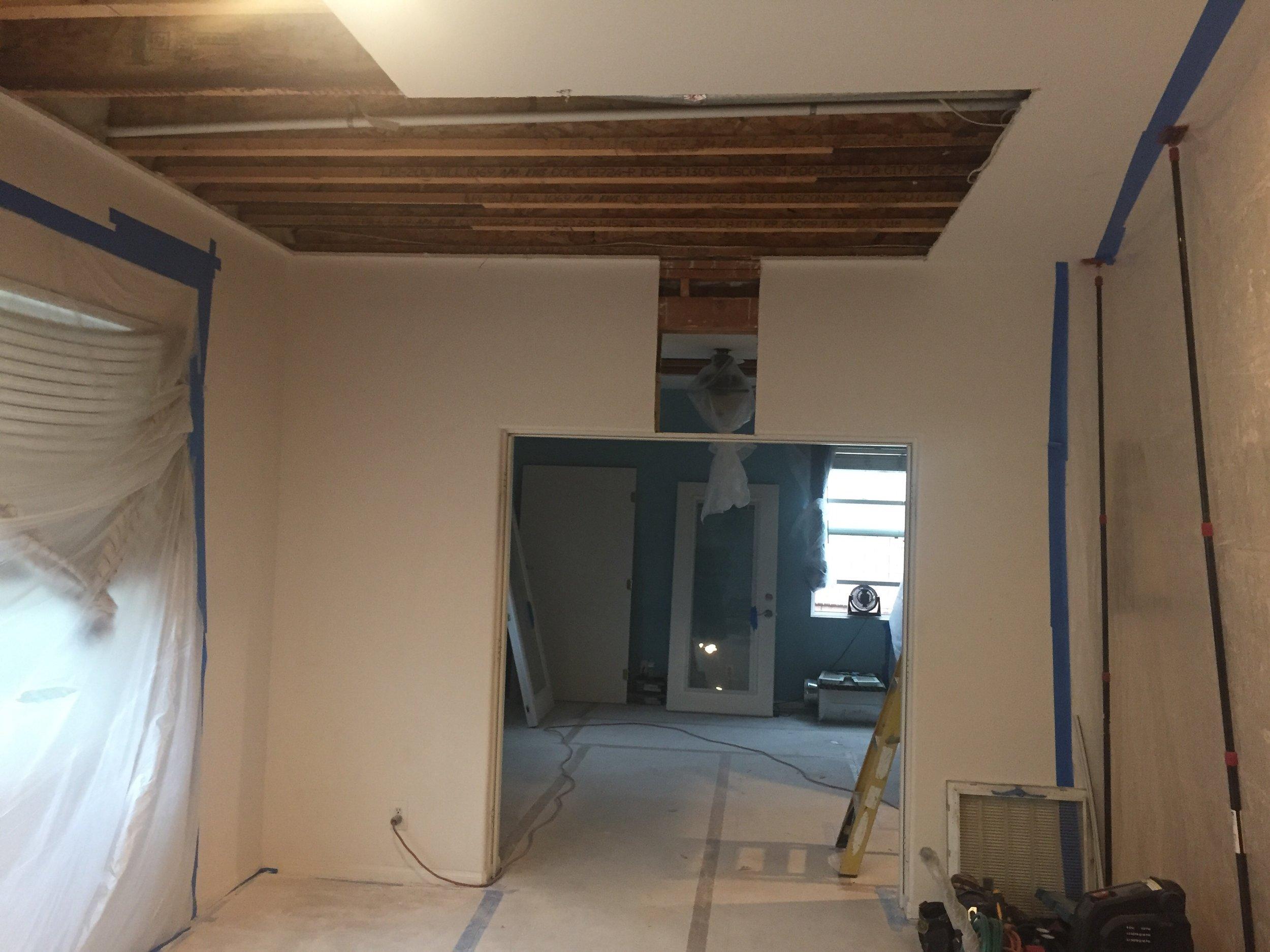 Overhead lift ceiling reinforcement