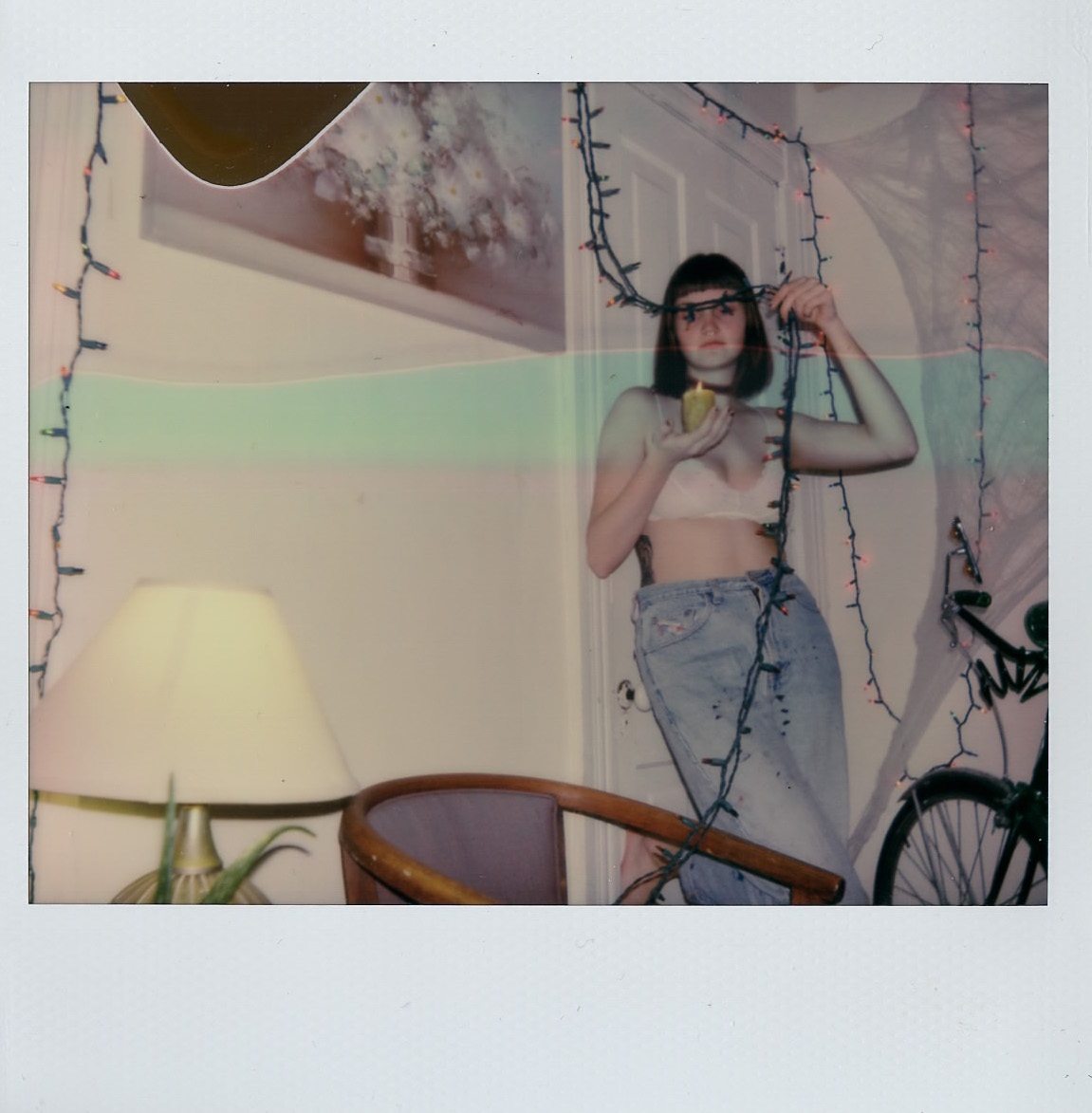 Olivia Reed at home in Oberlin, OH - December 2016 - Polaroid Spectra