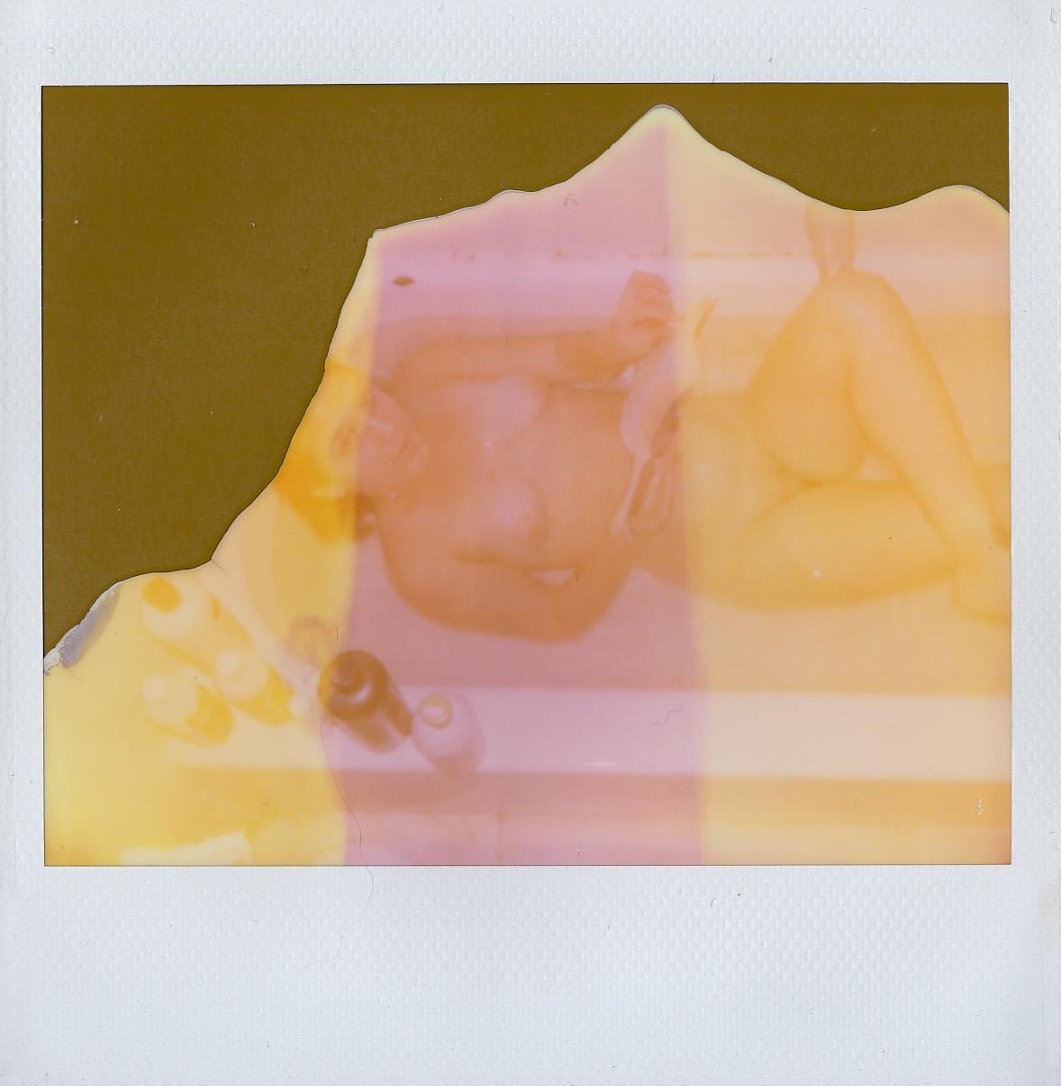 Rosie Lopeman in the bath - December 2016 - Brooklyn, NY - Expired Polaroid Spectra