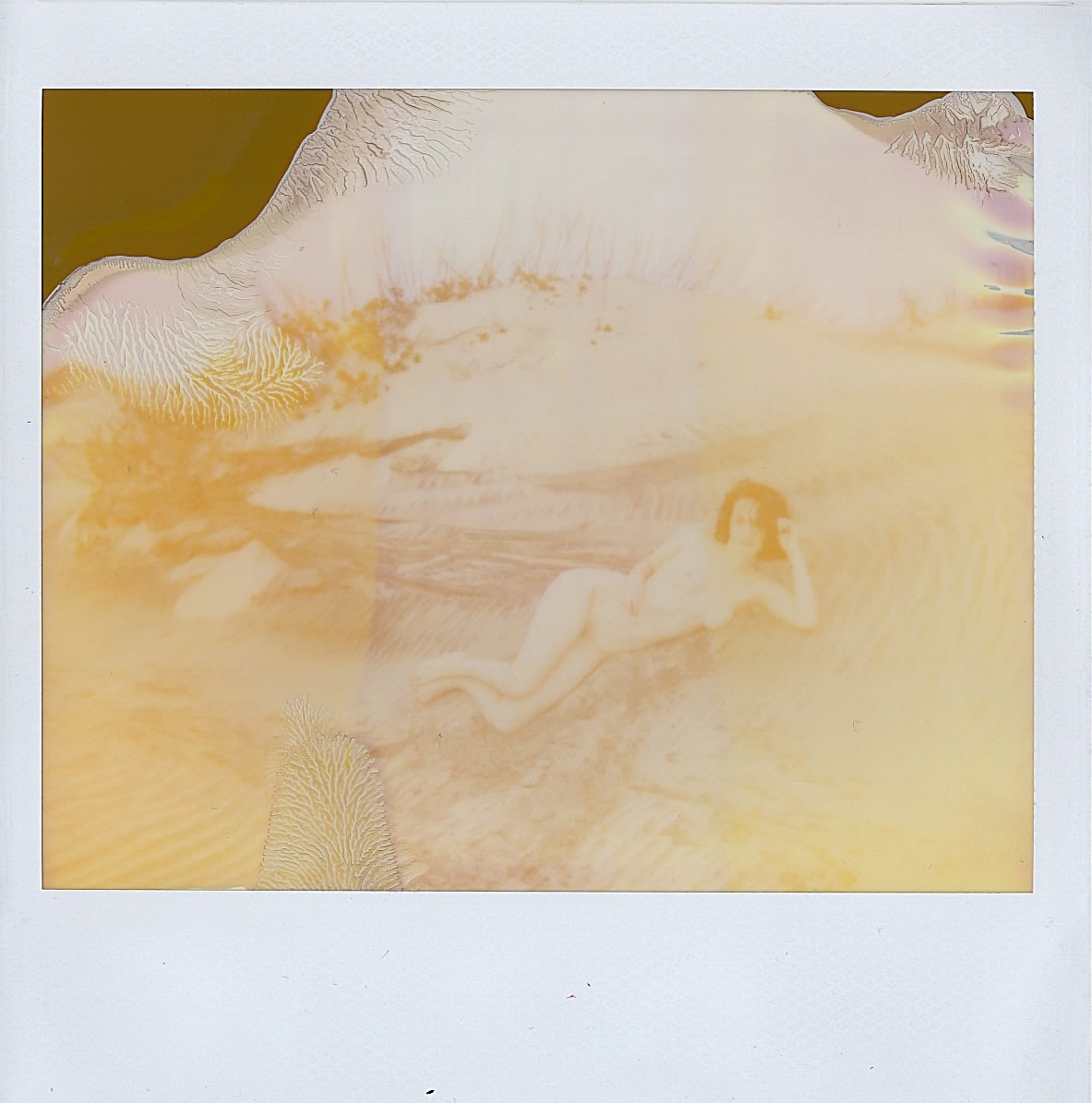 Self; taken by Presley on my Polaroid Spectra with expired film -- January 2017 -- Outer Banks, N.C.