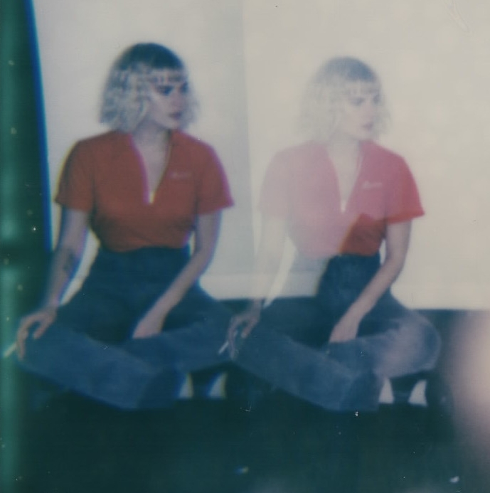 Caitlin Hales in my kitchen in Brooklyn, NY -- February 2017 -- Polaroid Spectra using Impossible Project Film