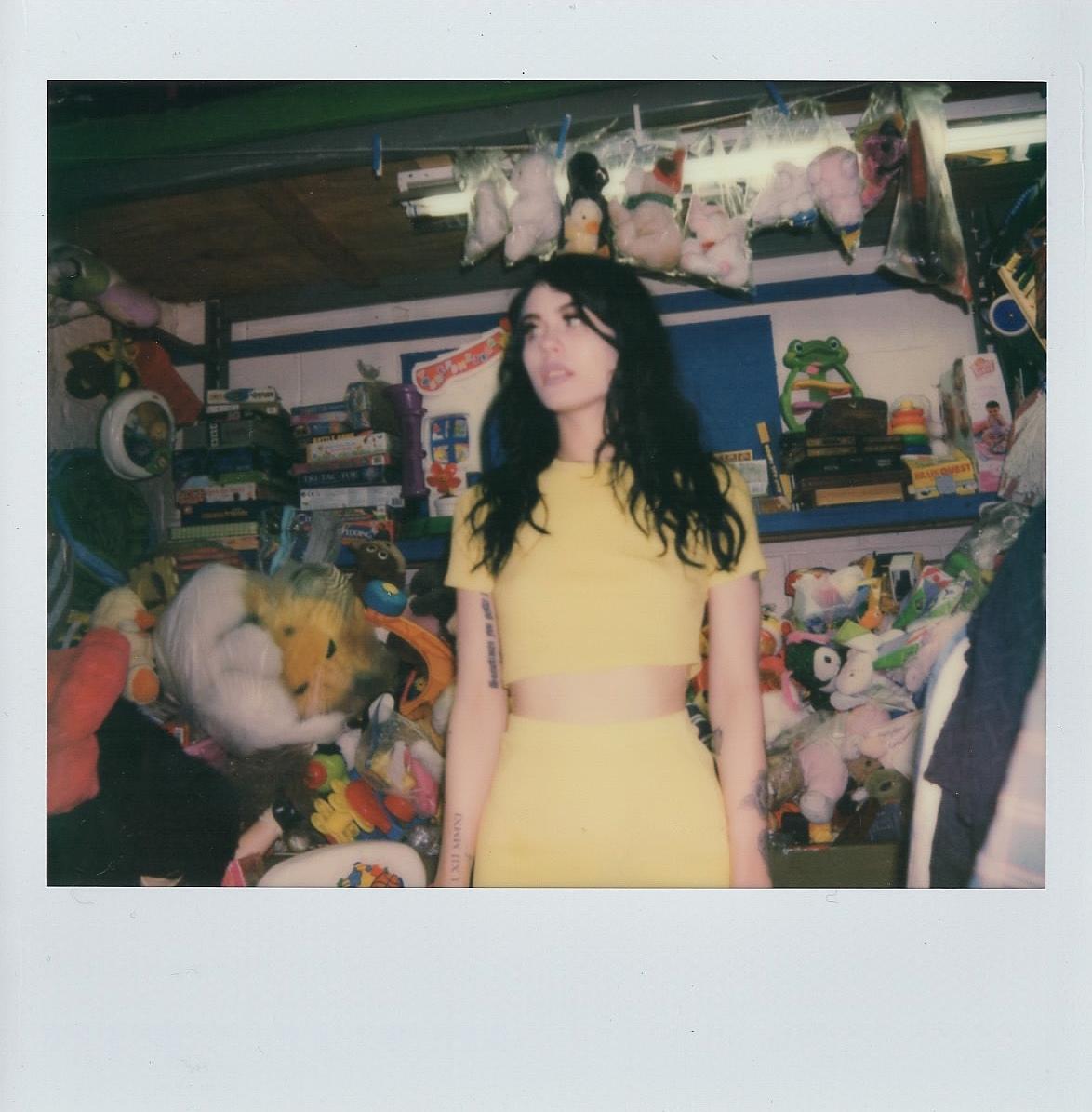 Agnieszka in my neighborhood thrift-shop -- April 2017 -- Brooklyn, New York