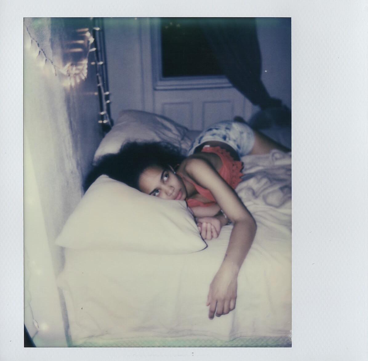Anabel de Leon in her bedroom, shot on Polaroid Spectra film in Brooklyn, New York -- 2017