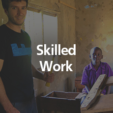 Skilled Work   We need carpenters, plumbers, electricians, agricultural specialists, vets, nurses, doctors, dentists.