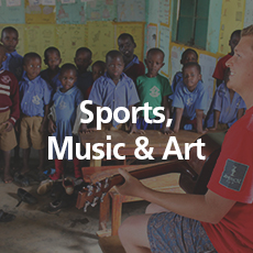Sports, Music, Art   If you love any of these – come teach them. No formal training required.