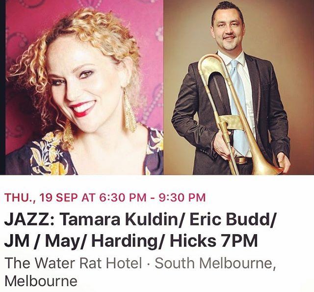 This Thursday x #swing #trombone #jazz #waterrathotel #sextet #melbournemusic #gigsouthoftheriver #femalevocalist #jazzsinger