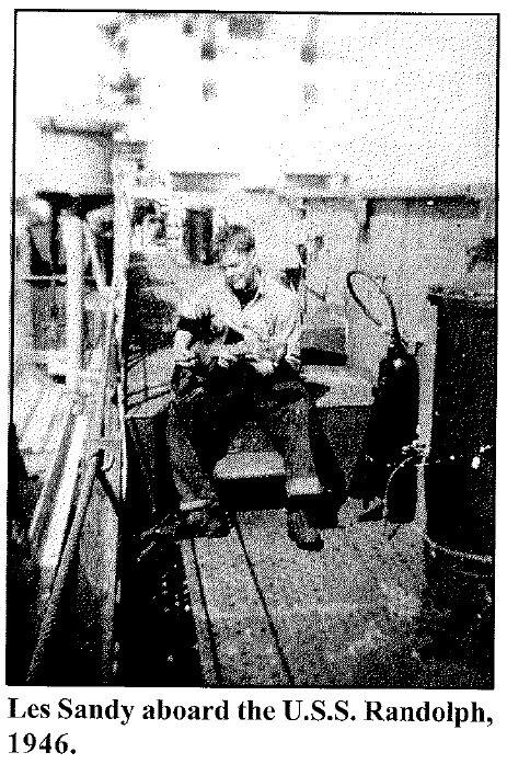 Les Aboard the U.S.S. Randolph, 1946