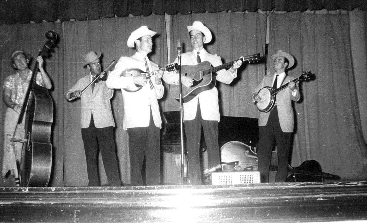Early 1950's photo of Jim and Jesse McReynolds and the Virginia Boys