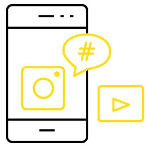 Social - Via sociale media sta je in direct contact met je doelgroep. Met een social strategie en kalender geven wij richting aan alle content.