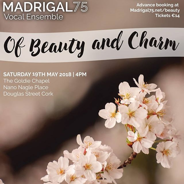 Just 4 days until our last concert of the season, 'Of Beauty and Charm' in the stunning Nano Nagle Place.  Get your tickets at madrigal75.net/beauty  #Madrigal75 #NanoNaglePlace #OfBeautyAndCharm #WhatsOnCork #Concert