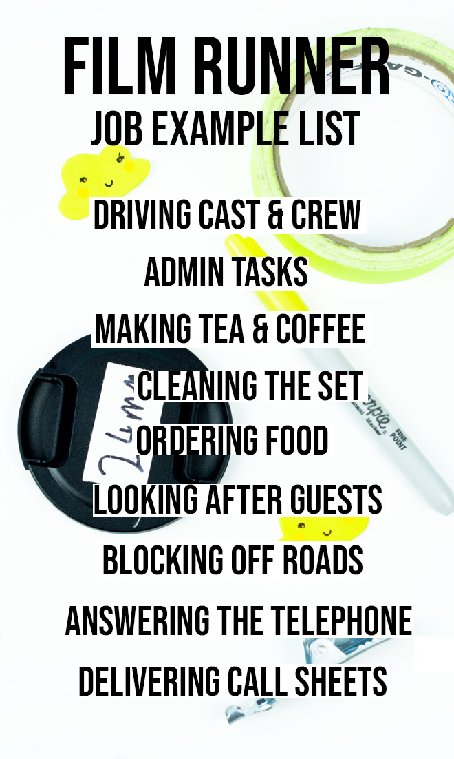 How to be a runner on a film set - runner job tasks