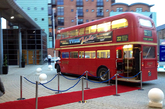 The Tyne Idols Routemaster was there to shuttle guests.