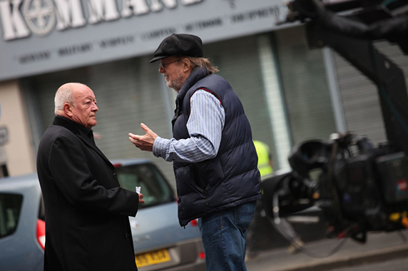 Tim chats with director Geoff Wonfor during filming of the AWP 30th Anniversary DVD.
