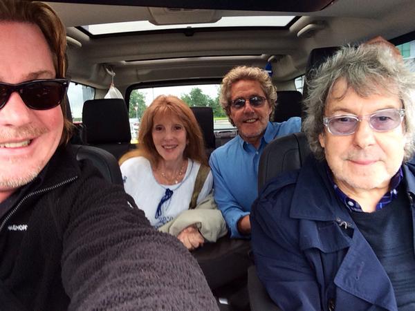 En route to the venue