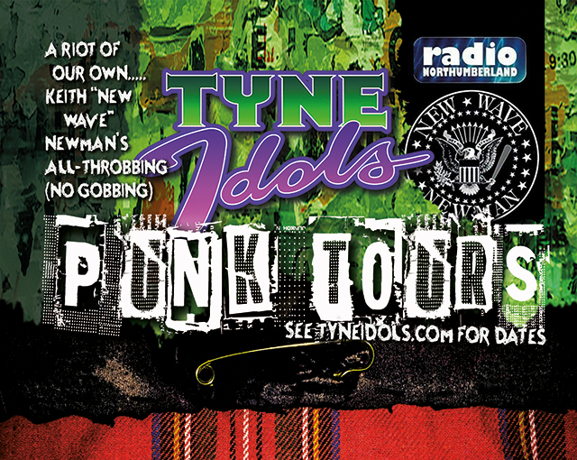 Promo graphics for Keith Newman's brilliant Punk Tours.