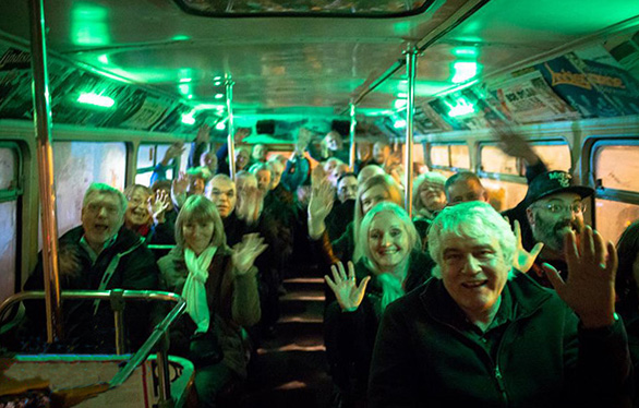 """Happy passengers enjoying another """"top deck"""" experience."""
