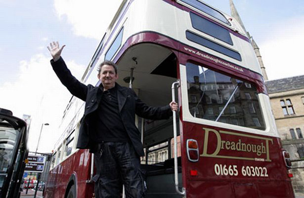 Chris Phipps finally realises his childhood fantasy of being Cliff Richard. This bus was loaned to us at the very beginning before we were allowed the more familiar red Routemaster.