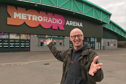 The show's producer Ray Laidlaw at the Arena