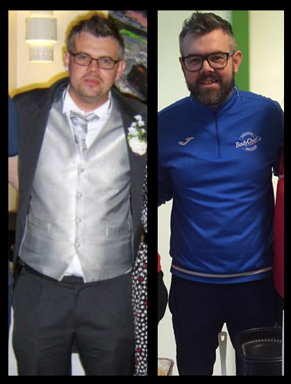 Owner Damien in 2014 and 2017