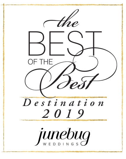 Junebug weddings best of the best destination