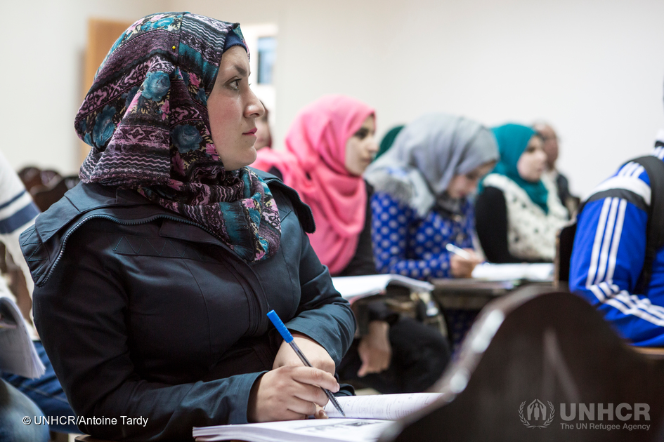 Syrian refugee studying at Al-Albayt University on a DAFI scholarship