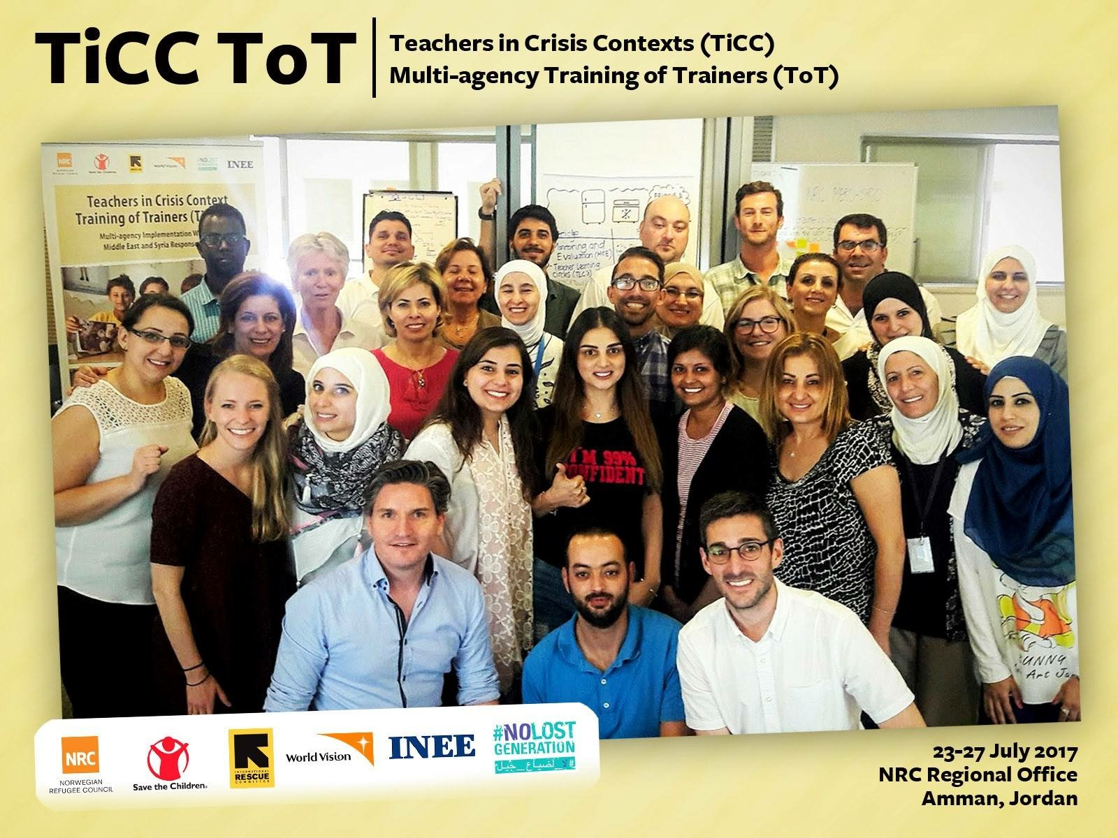 Multi-agency Training of TiCC Trainers in the Middle East