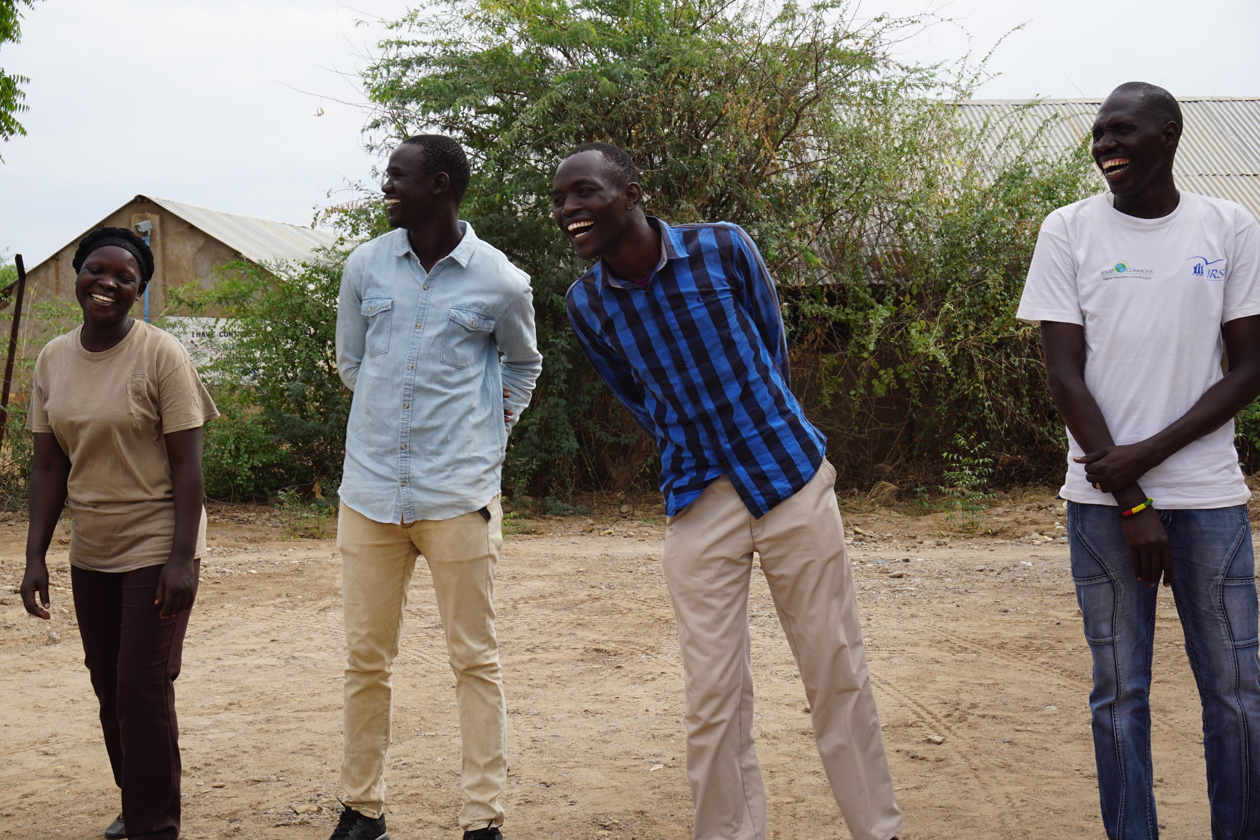 Teachers taking part in the peer coach training in Kakuma Refugee Camp, Kenya